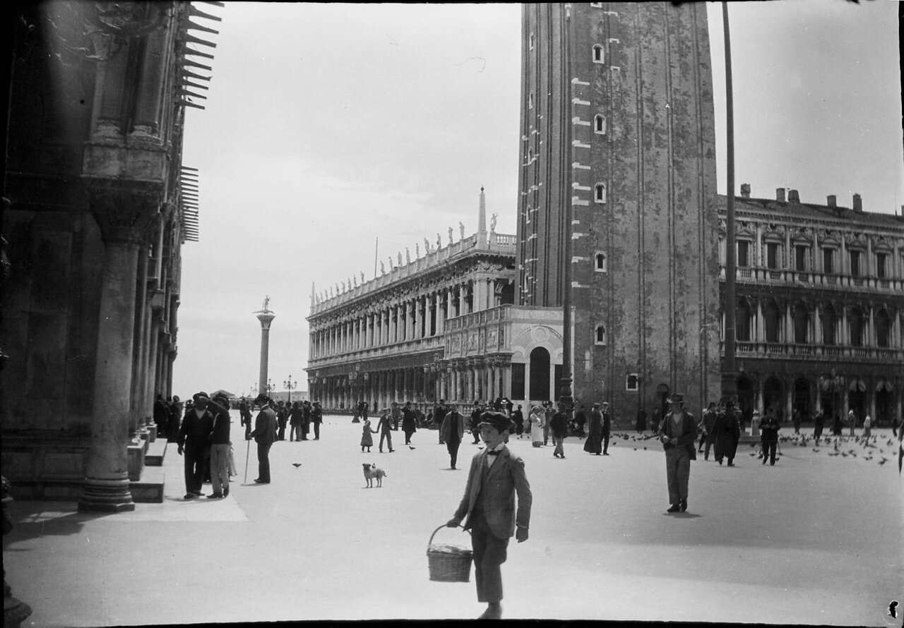 1900. Венеция. Площадь Сан-Марко и базилика