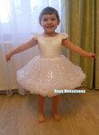 Платье снежинки для девочки своими руками фото