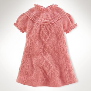 Розовый вереск - платье спицами от RL