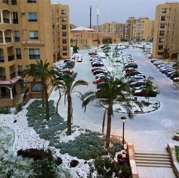 Египет в декабре - и выпал снег!