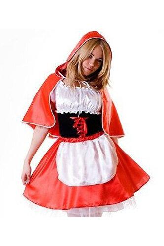 Женский карнавальный костюм Красная шапочка