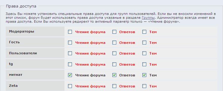 Администрирование - Форумы