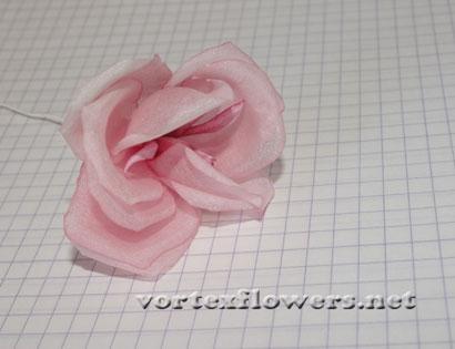 Роза из шелка мастер-класс