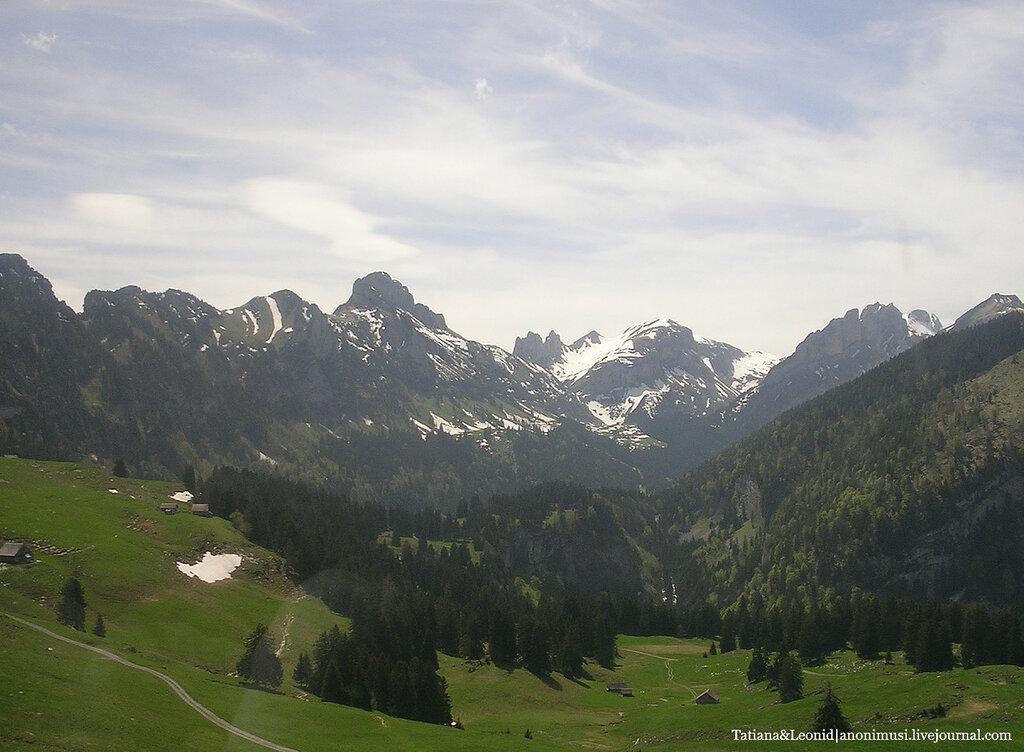 Швейцария в картинках.  Старые фото.