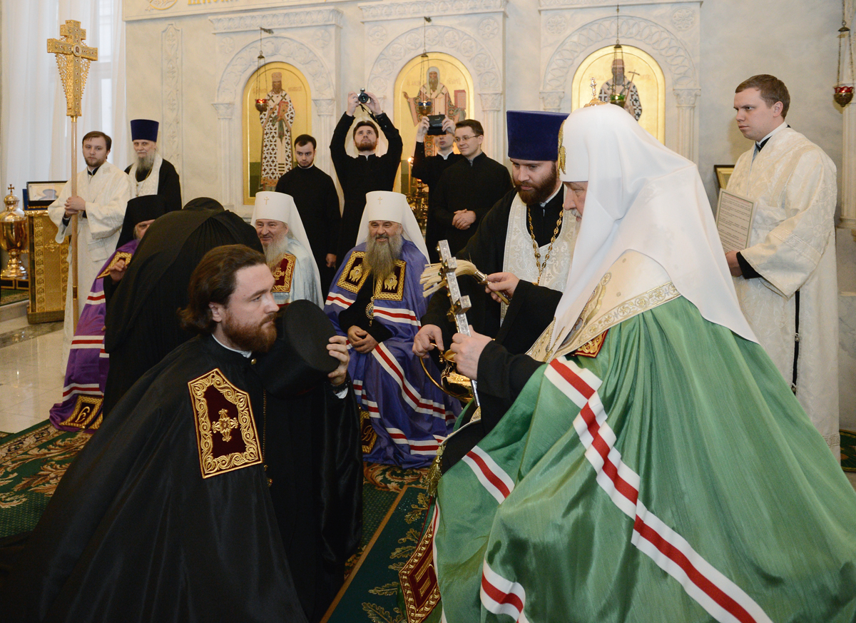чин наречения архимандрита Григория. 2014