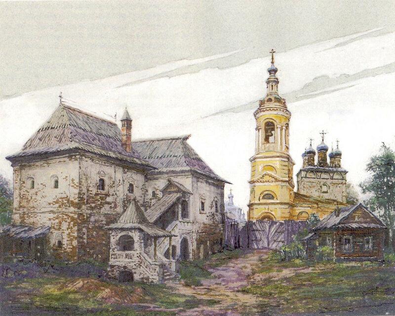 Церковь Рождества Богородицы на Стрелке в начале 1800-х годов. В.А. Рябов. 2006 год.