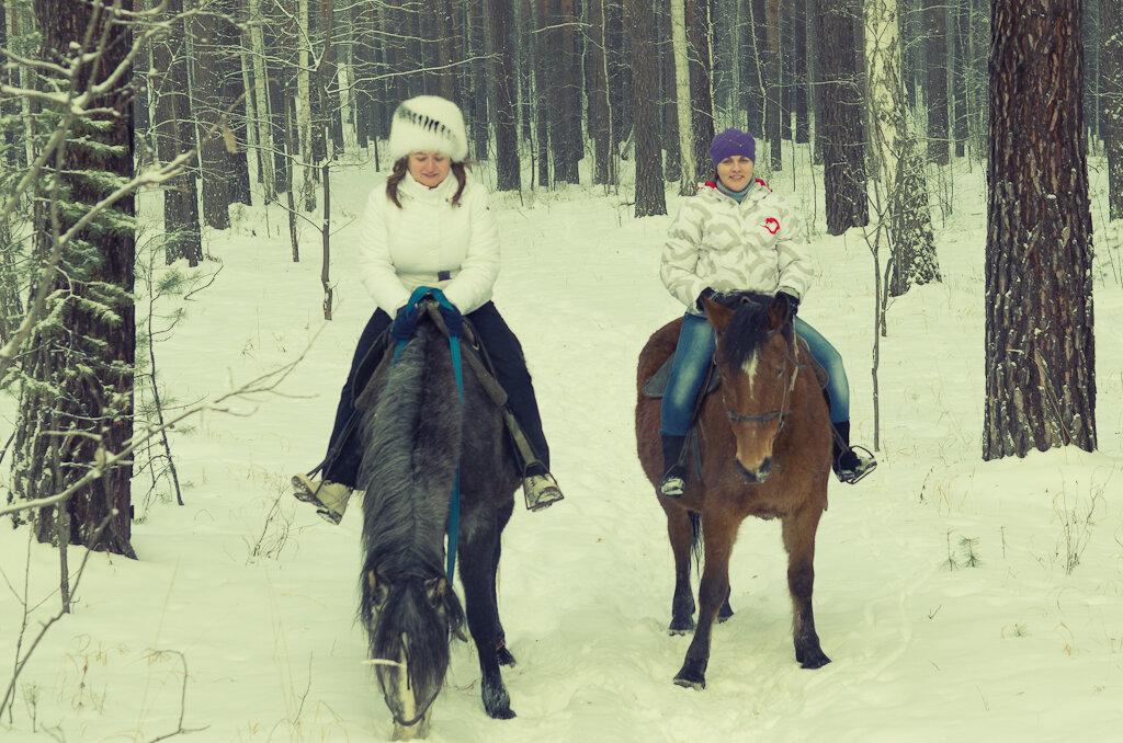4. Конные походы. Едешь по лесу неспешно, общаешься....