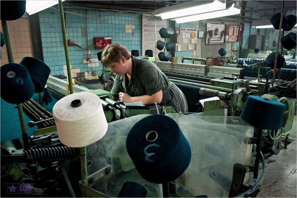 Как прядут ткани в Брянске