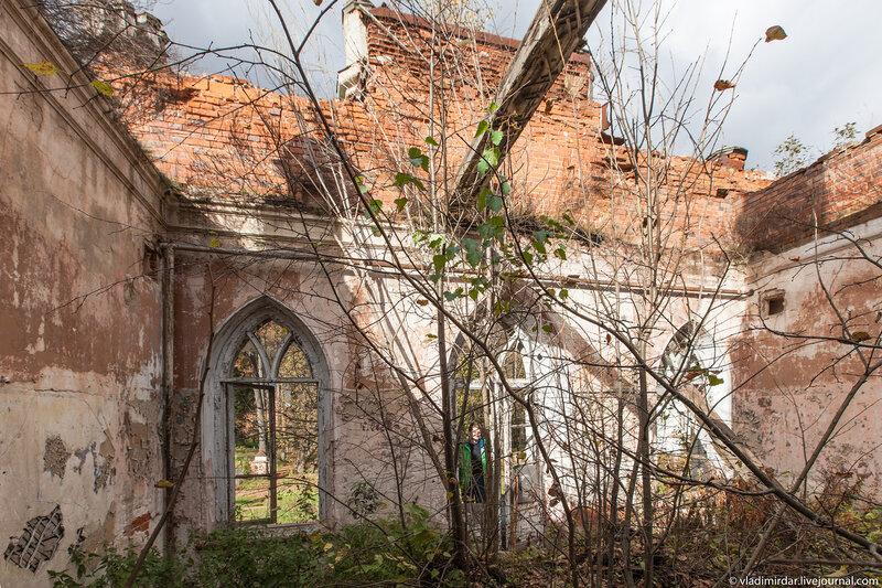 Зал над парадным входом замока в Колосово
