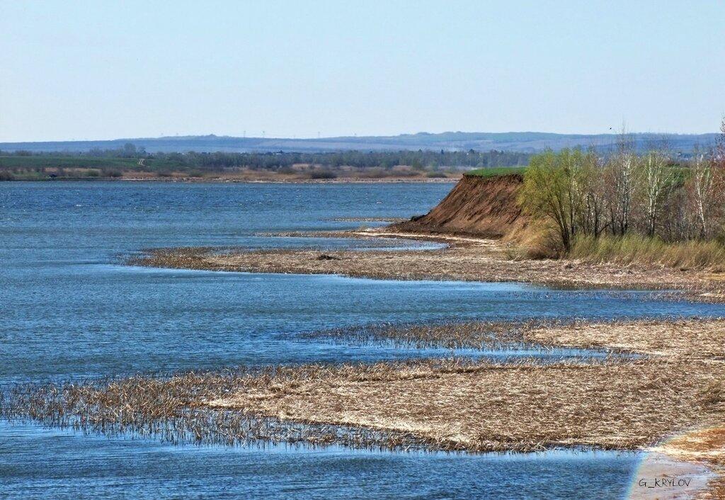 Волжский залив речки Курдюмки.