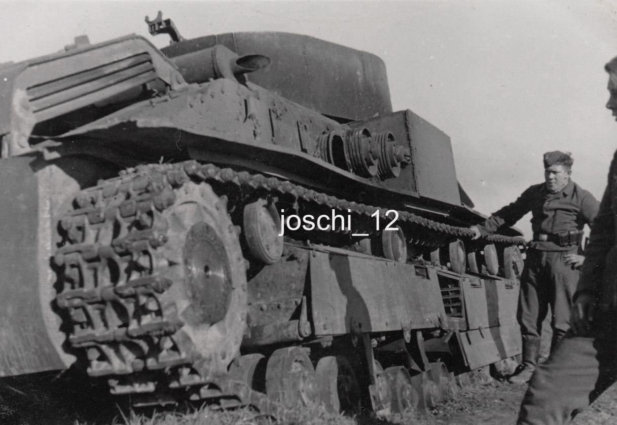 Подбитый танк Т-28э.