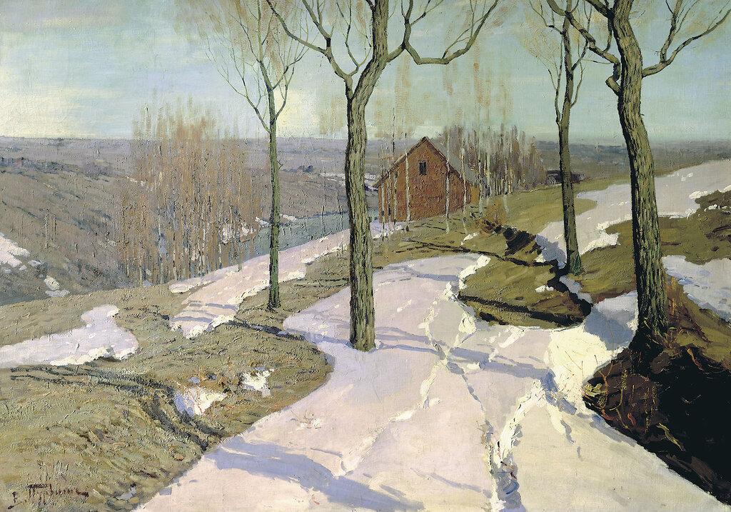 Пурвит Вильгельм (1872-1945). Последний снег. 1898. Холст, масло. 103х144 см.jpg
