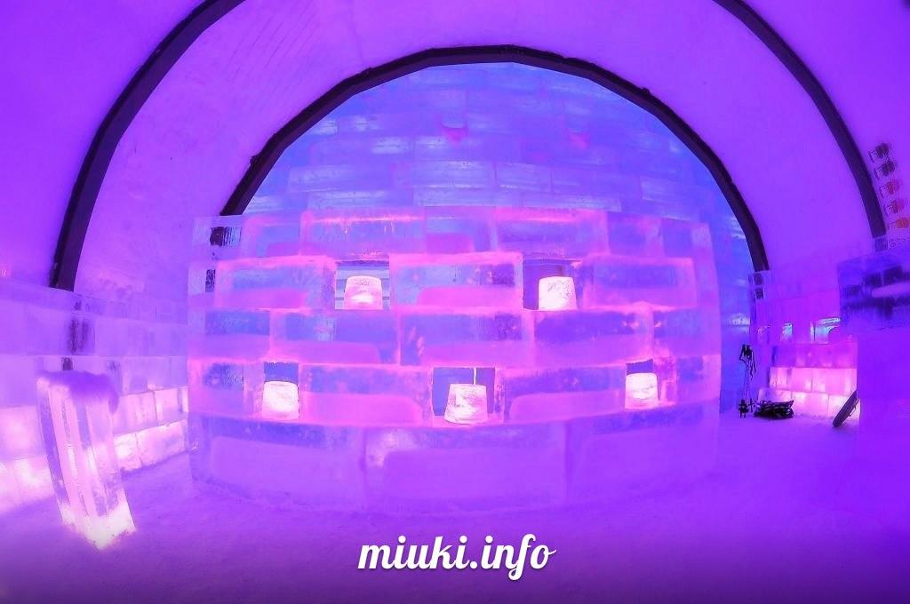 Построенная изо льда гостиница на острове Хоккайдо