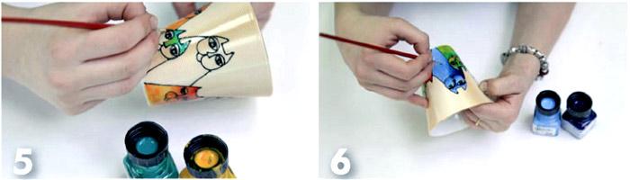 Как расписать чашку и блюдце. How to paint cup and saucer