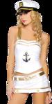 Девушка-морячка.Клипарт.