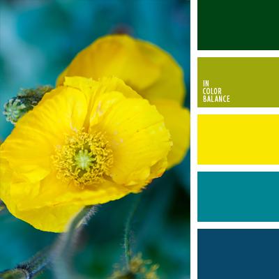 Сочетание цветов с сине зеленым цветом