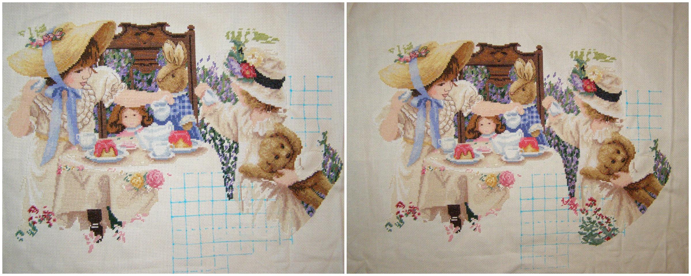 Серия наборов для вышивания крестиком на одежде от торговой