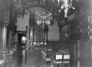 Вид столовой в готическом стиле (архитекторы В.И.Шене, В.И.Чагин, 1896-1897).