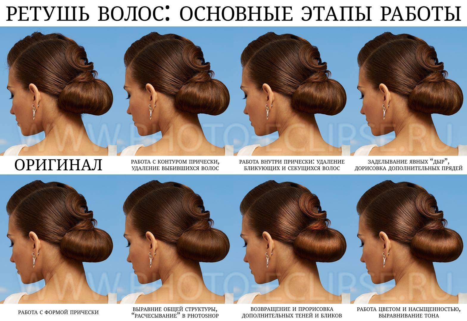 Алгоритм ретуши прически: основные этапы работы - Стив Ласмин - www.Photo-Eclipse.ru