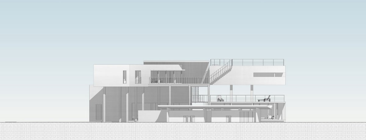 La Caracola, PAUL CREMOUX studio, частный дом в индустриальном стиле, бетон в интерьере фото, частный дом на берегу Тихого Океана, недвижимость Герреро