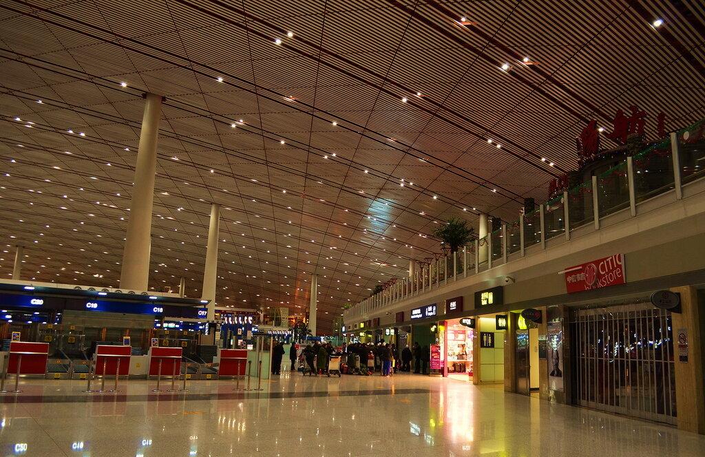 16. Зал вылета аэропорта в Пекине. Отдых в Китае.