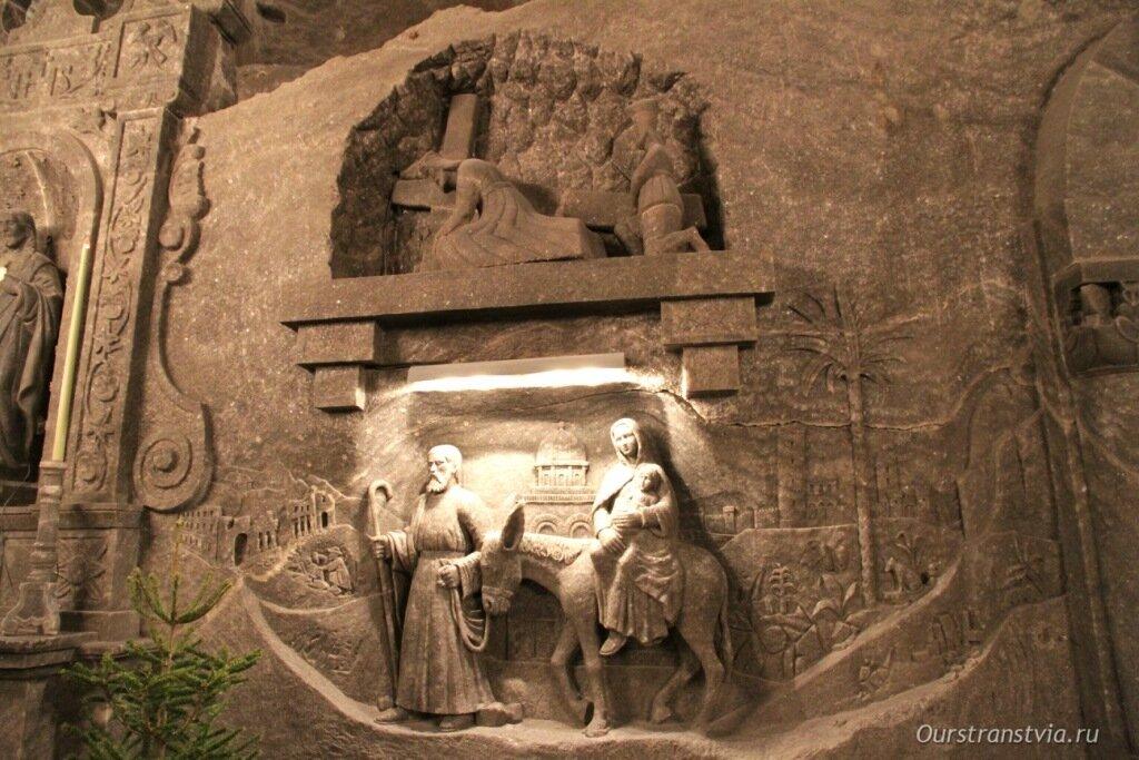 Картина из соли в шахтах Величка
