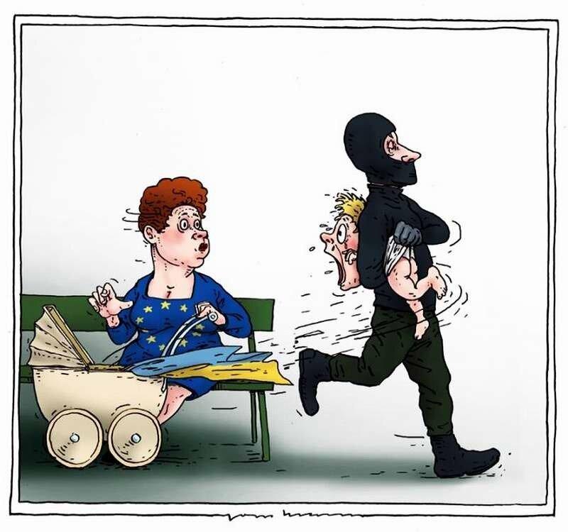 Россия похищает Украину (Joep Bertrams)