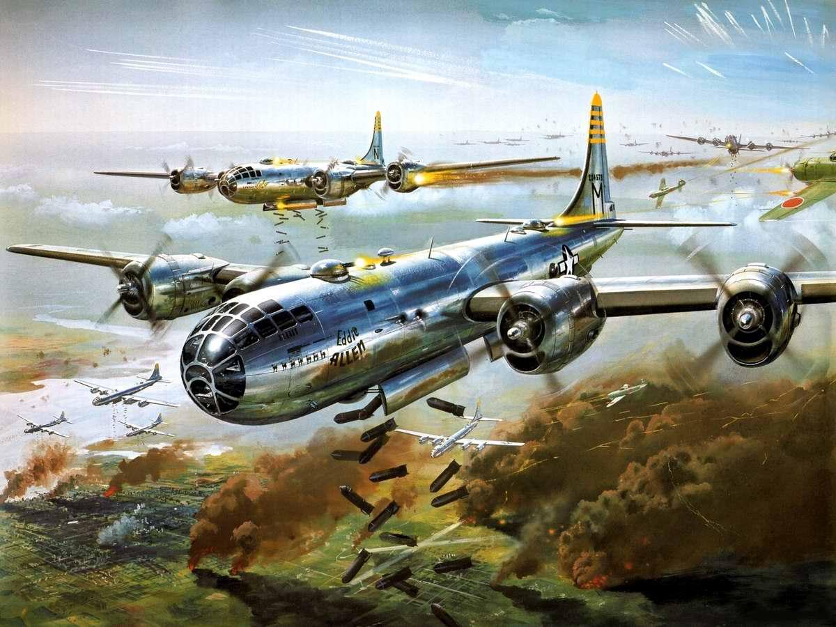 Американский стратегический бомбардировщик Boeing B-29
