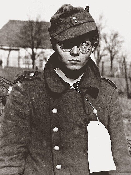 Young German Soldier who was taken Prisoner by US troops near Forbach, March 1945