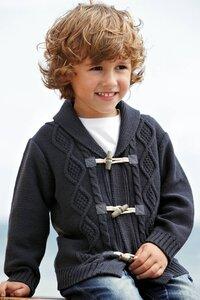 Поколение Next - кардиган для мальчиков (спицами)