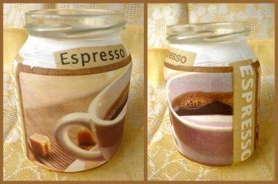Баночка для кофе    - декупаж