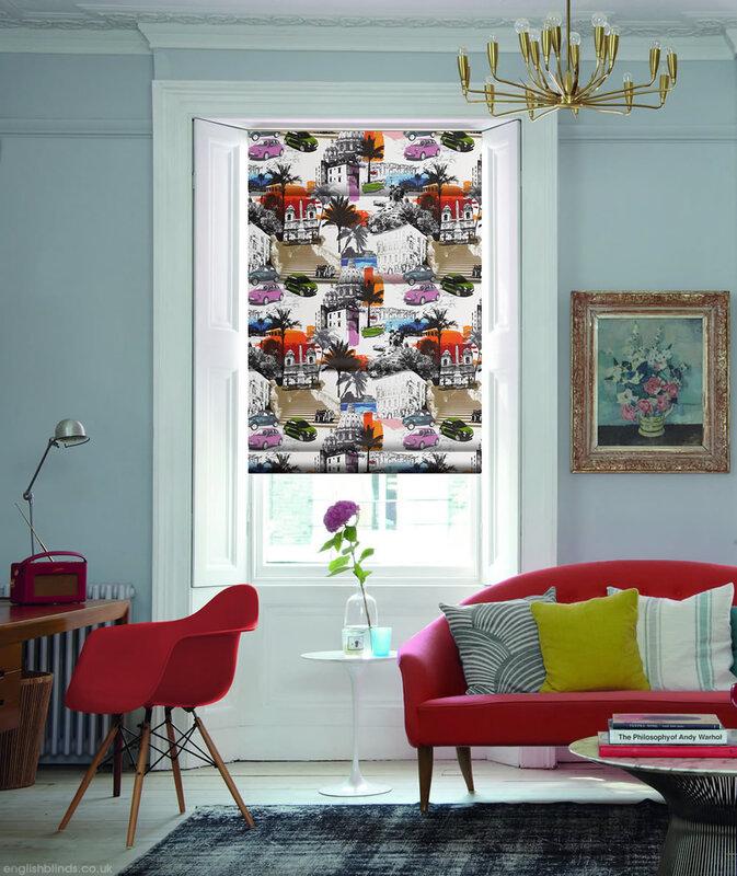 Украшаем окна жалюзи в стиле поп-арт