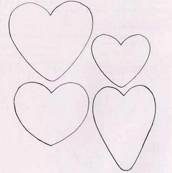 Выкройка сердечка