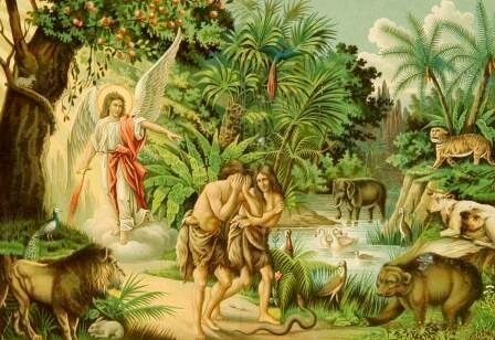 Неделя сыропустная, изгнание Адама
