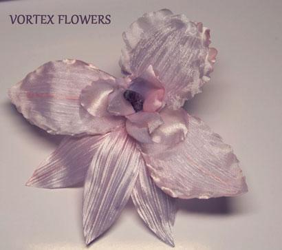 Орхидея из ткани. Бесплатный мастер-класс.