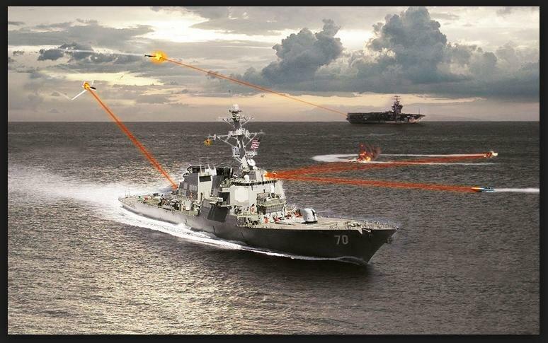 Лазерное оружие может уничтожать вражеский беспилотный самолет или небольшой катер