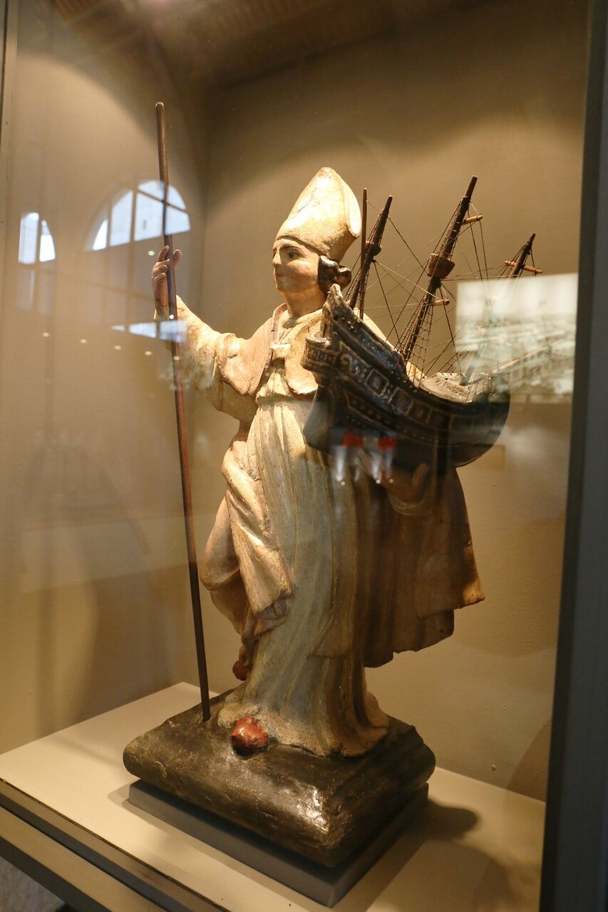 Maritime Museum of Barcelona. San Miguel - the patron of sailors