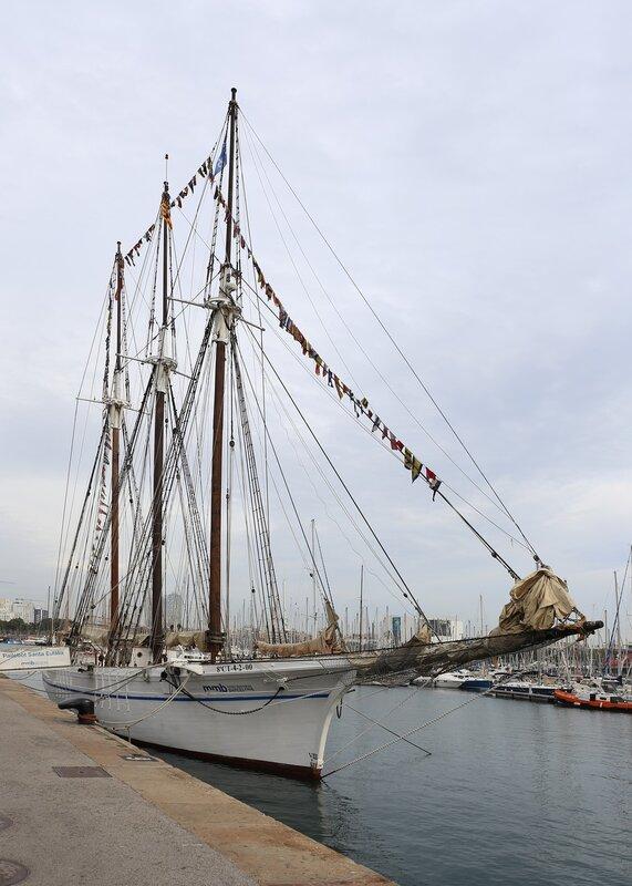 Barcelona. The schooner Santa Eulalia