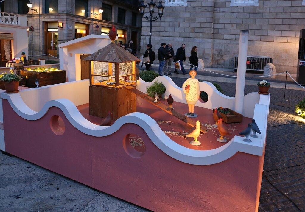 Рождественские инсталляции на площади Св. Иакова. Барселона