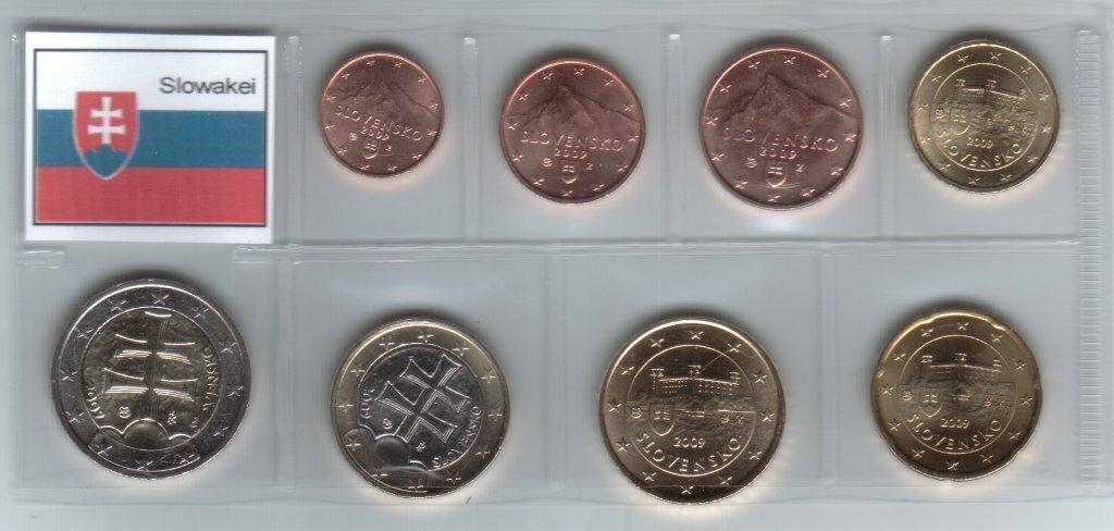 Монеты евро регулярные выпуски украинские 2 копейки 2007