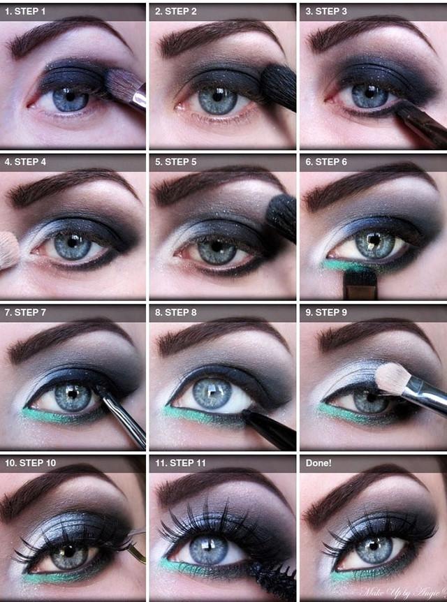 Eyes shades makeup