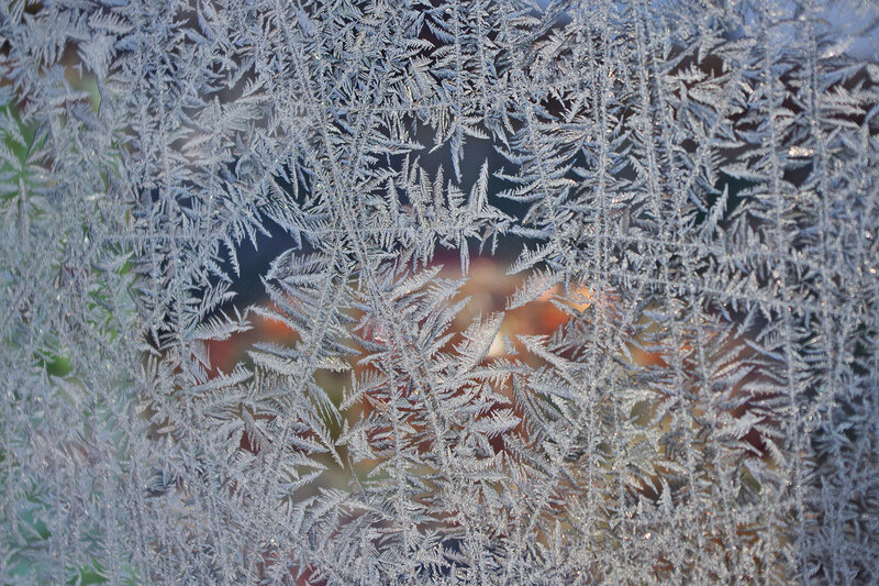 Мороз - узоры на стекле