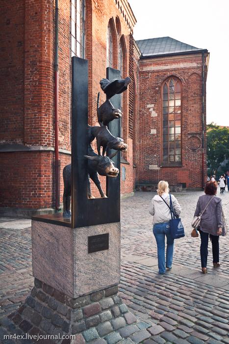 Латвия, Рига, Latvia, Riga, Старый город Риги, Бременские музыканты в Риге