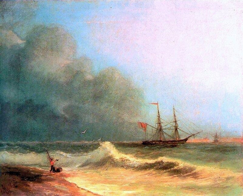 Айвазовский. Море перед бурей