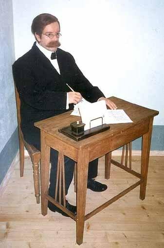 Восковая фигура Р. Блауманиса из бывшего музея восковых фигур в Риге