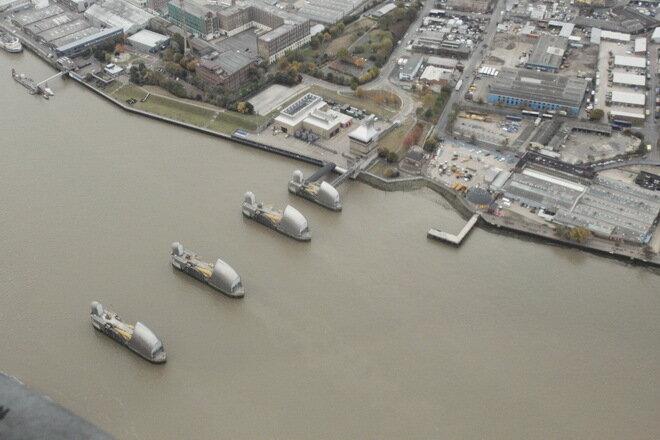 Плотина Барьер Темзы. Лондон