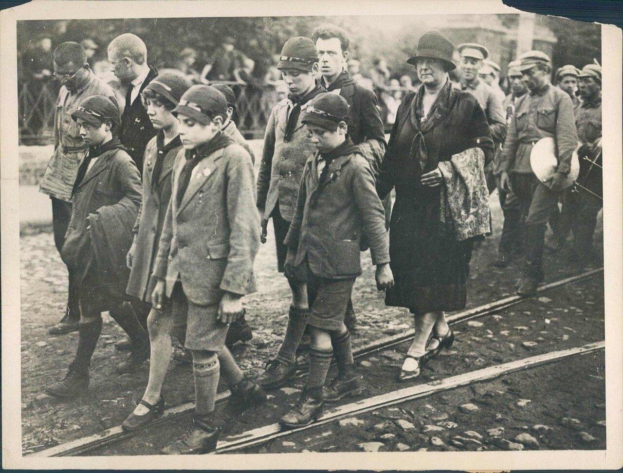 1927. Похороны члена британской компартии