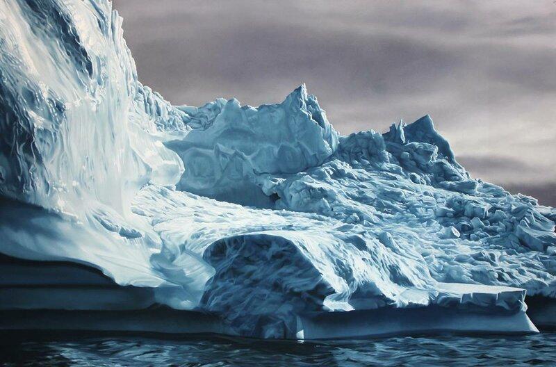 Средь голубых волн океана, блестя на солнце белизной... Художница Зарина Форман