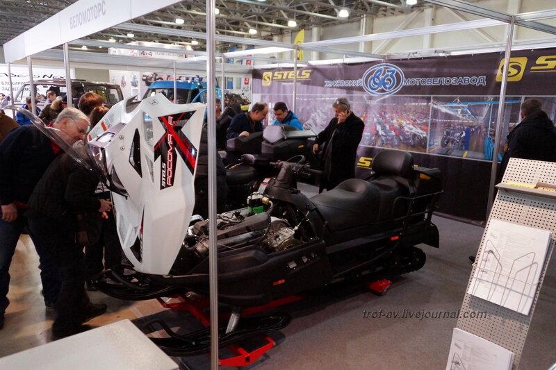 "Снегоход STELS S6800, выставка ""Вездеходы-2014"", Москва"