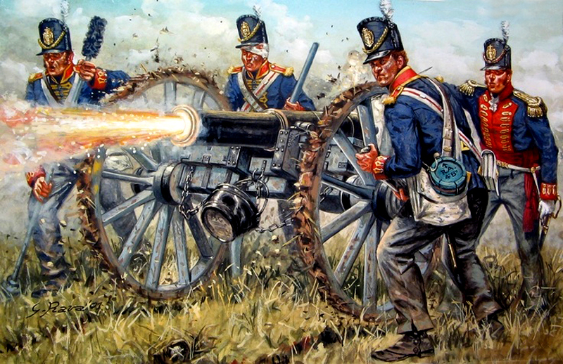 British artillery battery - Waterloo 1815 РАВА.jpg